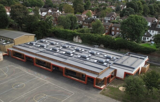 parish school prefabricated roof