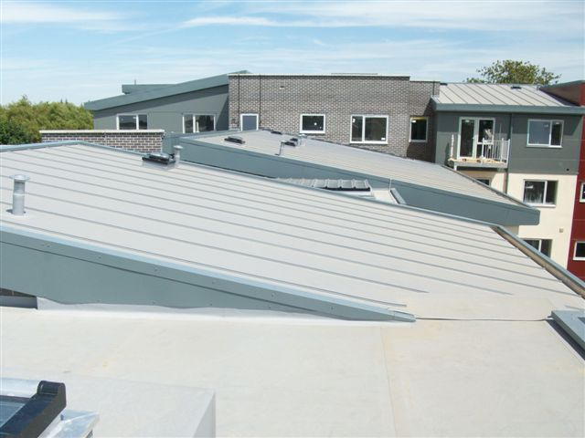 Aesthetic Rooftop With Standing Seam Iko Polymeric