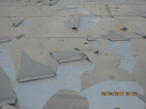 failure on the flat roof